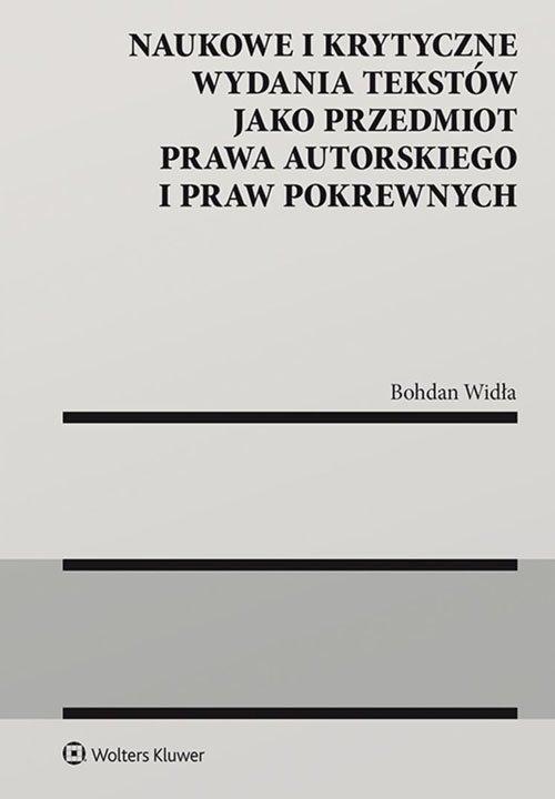 Naukowe i krytyczne wydania tekstów - okładka książki
