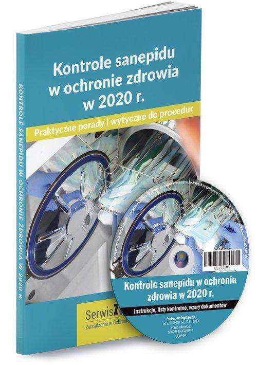 Kontrole sanepidu w ochronie zdrowia - okładka książki