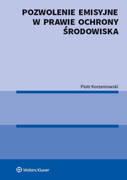 Pozwolenie emisyjne w prawie ochrony - okładka książki