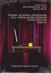 Finanse, ekonomia i zarządzanie - okładka książki