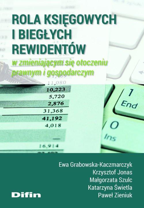 Rola księgowych i biegłych rewidentów - okładka książki
