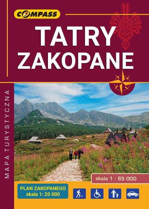 Tatry Zakopane. kieszonkowa mapa - okładka książki