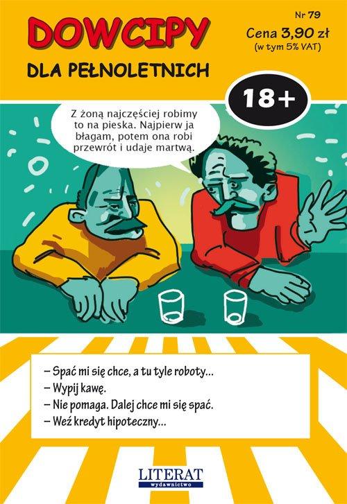 Dowcipy Nr 79 Dla pełnoletnich. - okładka książki