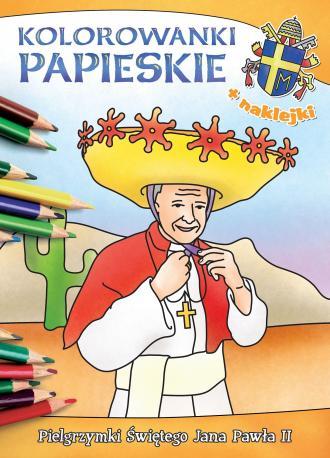 Kolorowanki papieskie. Pielgrzymki - okładka książki