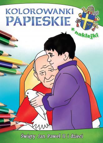 Kolorowanki papieskie. Święty Jan - okładka książki