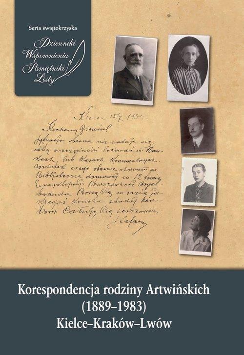 Korespondencja rodziny Artwińskich - okładka książki