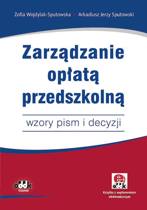 Zarządzanie opłatą przedszkolną - okładka książki