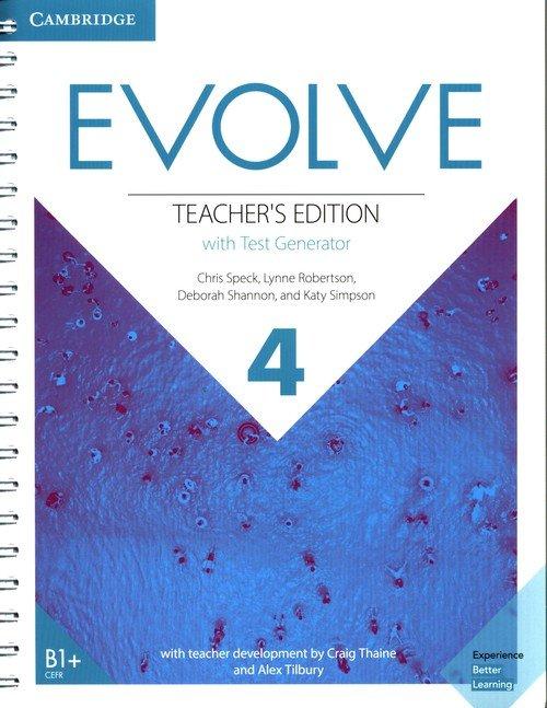 Evolve 4 Teachers Edition with - okładka podręcznika