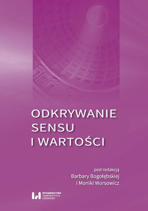 Odkrywanie sensu i wartości - okładka książki