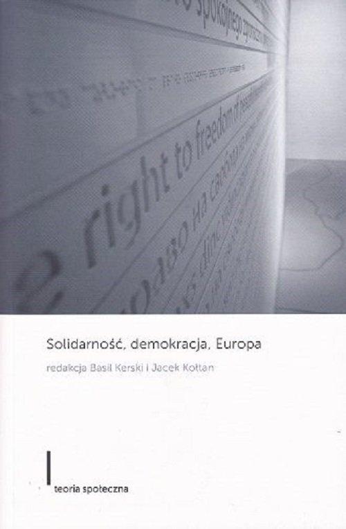 Solidarność, demokracja, Europa - okładka książki