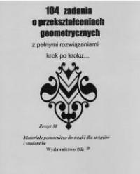 104 zadania o przekształceniach - okładka książki