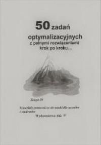50 zadań optymalizacyjnych z pełnymi - okładka podręcznika