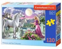 Puzzle 120 Księżniczka i jej jednorożce - zdjęcie zabawki, gry