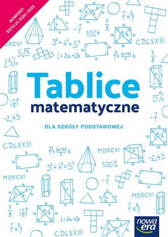 Tablice matematyczne szkoła podstawowa - okładka podręcznika