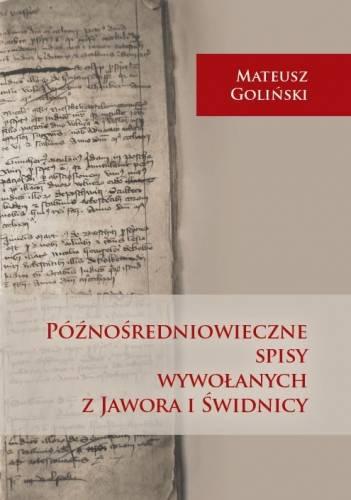 Późnośredniowieczne spisy wywołanych - okładka książki