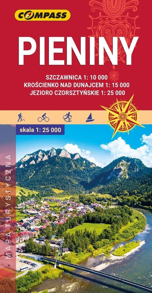 Mapa turystyczna - Pieniny 1:25 - okładka książki