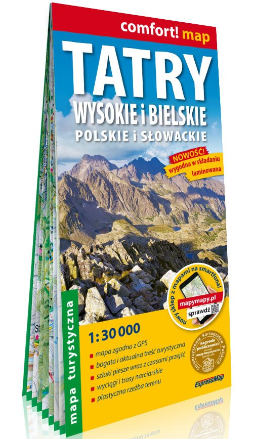 Comfort!map Tatry Wysokie i Bielskie, - okładka książki