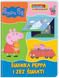 Peppa Pig Zadania w okienkach Świnka - okładka książki
