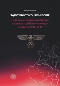 Sądownictwo niemieckie i jego rola - okładka książki