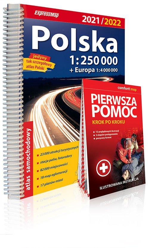 Atlas samachodowy Polska 1:250 - okładka książki