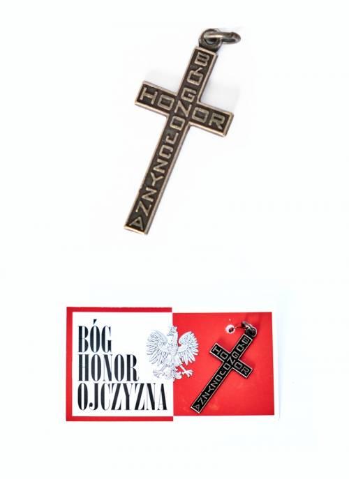 Krzyżyk patriotyczny Bóg-Honor-Ojczyzna - zdjęcie akcesoriów