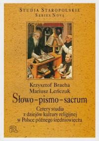 Słowo-pismo-sacrum. Cztery studia - okładka książki