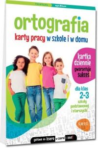Ortografia Karty pracy w szkole - okładka podręcznika