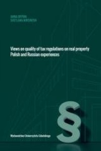 Views on quality of tax regulations - okładka książki