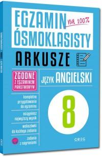 Egzamin ósmoklasisty arkusze język - okładka podręcznika