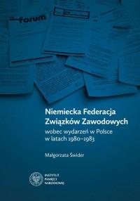 Niemiecka Federacja Związków Zawodowych - okładka książki