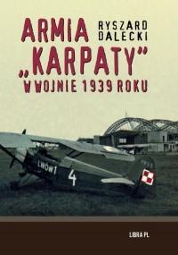 Armia karpaty w wojnie 1939 roku - okładka książki
