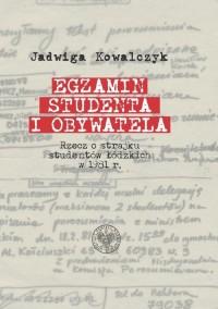Egzamin studenta i obywatela. Rzecz - okładka książki