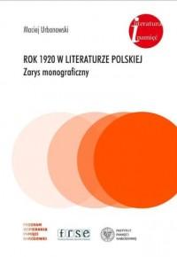 Rok 1920 w literaturze polskiej. - okładka książki