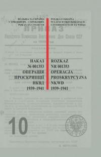Rozkaz nr 001353. Operacja proskrypcyjna - okładka książki