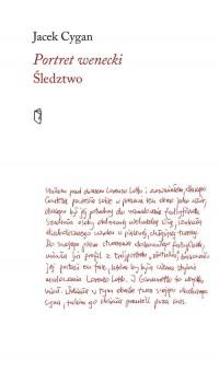 Portret wenecki Śledztwo - okładka książki
