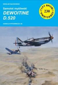 Samolot myśliwski Dewoitine D.520 - okładka książki