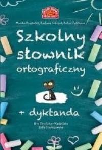 Szkolny słownik ortograficzny + - okładka książki