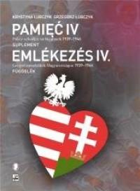 Pamięć IV. Polscy uchodźcy na Węgrzech - okładka książki