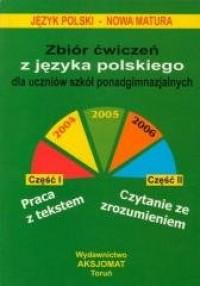 Zbiór ćwiczeń z języka polskiego, - okładka podręcznika