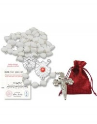 Różaniec jubileuszowy z relikwiami - zdjęcie