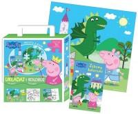 Peppa Pig. Układaj i koloruj - okładka książki
