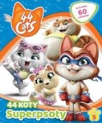 44 Koty 5 Superpsoty - okładka książki
