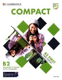 Compact First Students Book with - okładka podręcznika