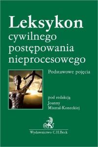 Leksykon cywilnego postępowania - okładka książki