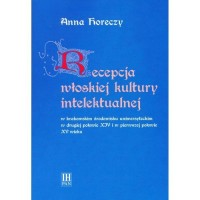 Recepcja włoskiej kultury intelektualnej - okładka książki
