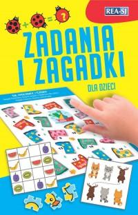 Zadania i zagadki dla dzieci - okładka książki