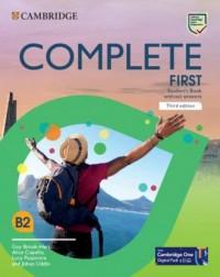 Complete First Students Book without - okładka podręcznika