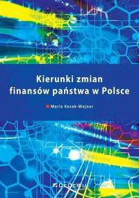 Kierunki zmian finansów państwa - okładka książki