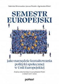Semestr europejski jako narzędzie - okładka książki