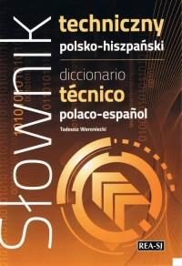 Słownik techniczny polsko-hiszpański - okładka książki